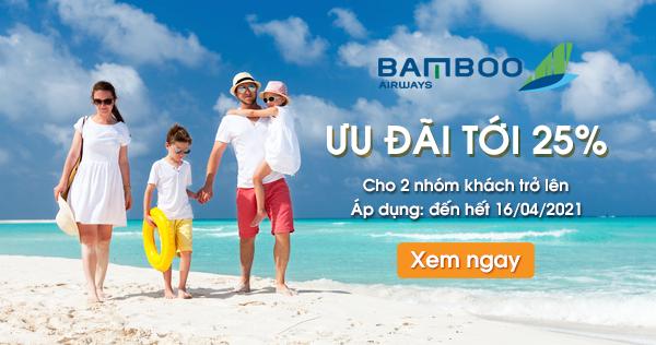 Bamboo Airways ưu đãi đến 25% Trong Hè 2021
